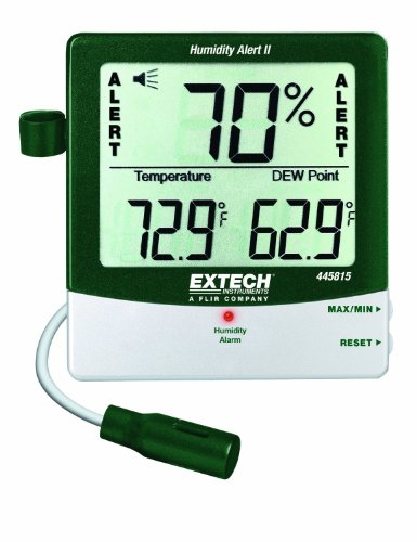 Extech 445815-NISTL Humidity Meter with Alarm, Remote Probe and Limited NIST