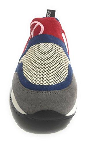 Love Moschino - Zapatillas de Material Sintético para mujer multicolor MIX BLU RED