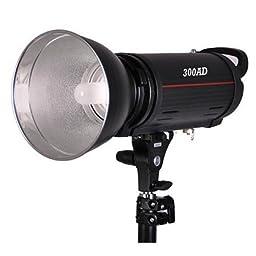 CowboyStudio Mettle 300 Watt Photo Lighting Mono Master Strobe Lithium Battery Flash Light For Outdoor & Indoor