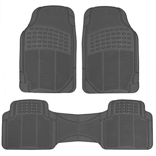 ProLiner Original Heavy Duty Rubber Car Rubber Floor Mats Liner for Auto - All Weather 3 Piece Set (Gray)