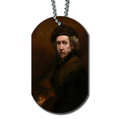 Rembrandt Van Rijn Self-Portrait - Dog Tag Necklace