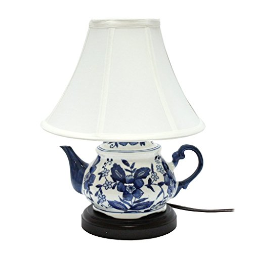 DEI Blue and White Teapot Lamp, 13