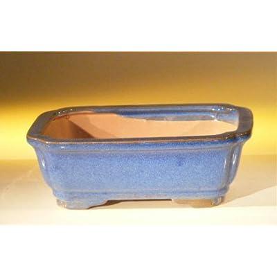 "JM BAMBOO Ceramic Bonsai Pot - Rectangle 8.0"" x 6"" x 2.5""H: Garden & Outdoor"