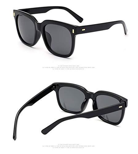 Ligero Gafas Lente Mujer Gafas A Ultra Negro Sol Polarizadas Vintage Fliegend para de Espejo de Gafas Sol Gafas Retro Sol Hombre Estuche Unisex de UV400 de Sol CnwCARpOqx