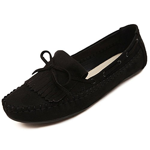 30%OFF ANONE Women's Casual Round Toe Tassel Suede Loafer Flats Drive Travel Doug Shoes