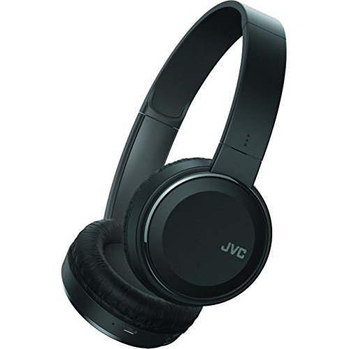 JVC Wireless Lightweight Flat Foldable On Ear Bluetooth Wireless Headband with Mic Black (HAS190BTB) (Jvc Bluetooth Headphone)