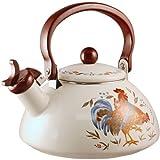 Corelle Coordinates by Reston Lloyd Harmonic Hum Whistling Teakettle, 2.2 Quart, Country Morning