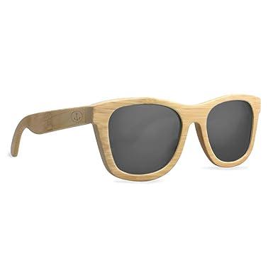 VIENTO Kalima Gafas de Sol de Madera (Negro): Amazon.es ...