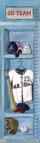 Oopsy Daisy Baseball Locker Growth Chart by Jones Segarra, 12 by 42-Inch by Oopsy Daisy