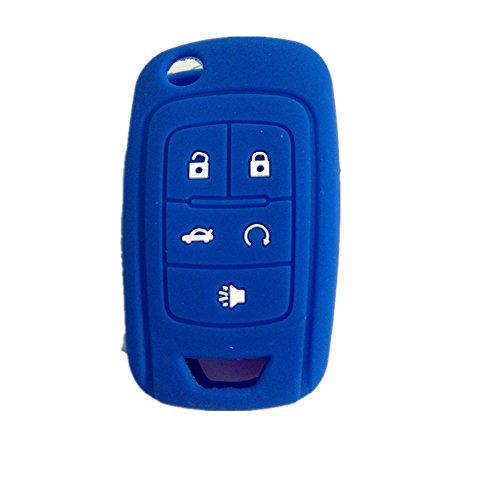 new-blue-silicone-remote-5-buttons-key-cover-case-holder-jacket-bag-for-chevrolet-camaro-cruze-volt-