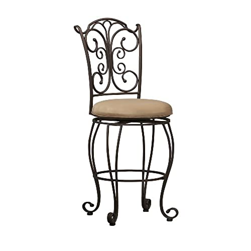 Linon Gathered Back Counter Stool 24