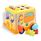 TOP BRIGHT Shape Sorter Activity Cube Baby Early Development Colorful Toys for 1 Year Old Boy and Girl Gifts