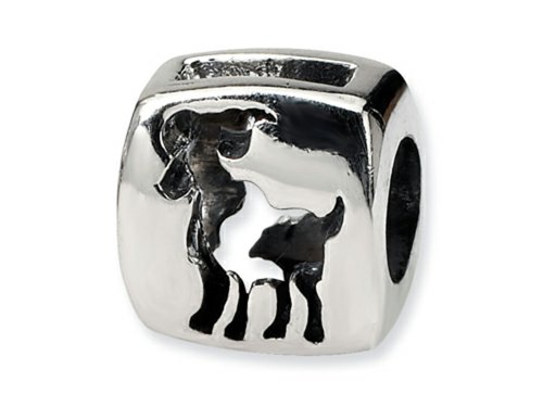 Reflections Sterling Silver Aries Zodiac Antiqued Bead/Charm