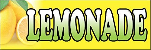 Advertising Flag Front Banner Business Sign Retail Store Lemonade Banner Vinyl Weatherproof 3x10 lb