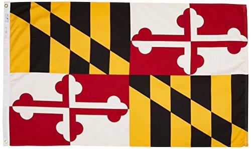 US Flag Store Maryland 3ft. x 5ft. Spun Heavy Duty Polyester Flag