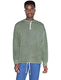 American Apparel Men's French Terry Long Sleeve Drawstring Hoodie, Faded