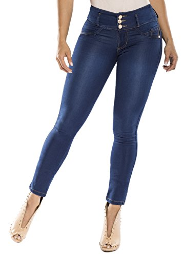 (Curvify High Waisted Butt Lifting Stretch Jeans | Slimming Lift Skinny Jeans 837 (ChicBlue 18))