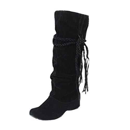 Tessal Classiques Moto Femme Esailq Rétro Noir Bottes Chaussures q7ETxnzR