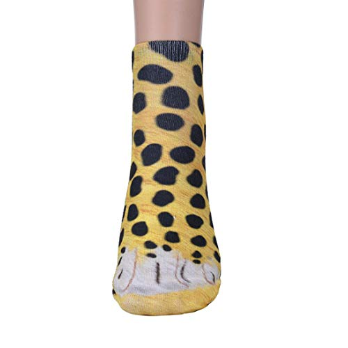 YOYORI Fashion 3D Animal Paw Crew Socks Unisex Adult Women Men Medium Crew Sublimated Print Athletic Crew Sock (C) -