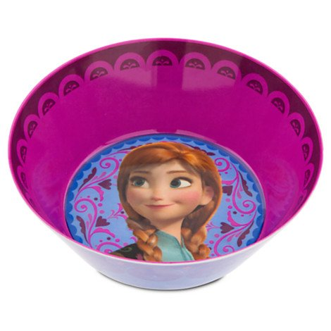 2' Diameter Plate (1 X Disney Frozen Anna Bowl for Kids)