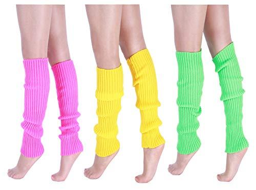 CHUNG Adult Women Juniors Knitted Leg Warmers Neon