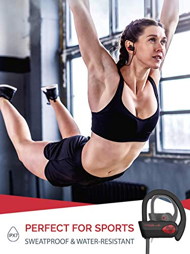TREBLAB XR500 Bluetooth Headphones, Best Wireless Earbuds for Sports, Running or Gym Workout. 2018 Updated Version. IPX7 Waterproof, Sweatproof, Secure-Fit Headset. Noise Cancelling Earphones w/Mic by Treblab (Image #3)