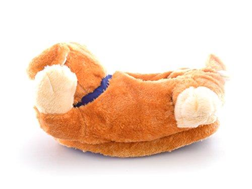 Monster Hausschuhe für Männer und Frauen: Kuriose Bertie Bulldogge Tier Hausschuhe