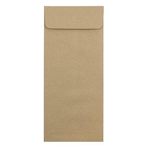- JAM PAPER #14 Policy Premium Envelopes - 5 x 11 1/2 - Brown Kraft Paper Bag - 25/Pack