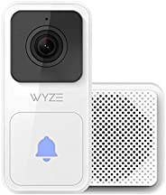Wyze Video Doorbell (Chime Included), 1080p HD Video, 3:4 Aspect Ratio: 3:4 Head-to-Toe View, 2-Way Audio, Nig