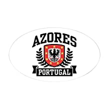 CafePress - Azores Portugal Sticker (Oval) - Oval Bumper Sticker Car Decal