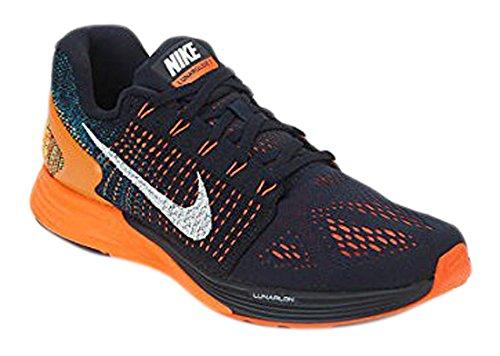 new style afa3b 8ba0c Galleon - Nike Men s Lunarglide 7 Running Shoe Dark Obsidian Total  Orange Citrus White Size 11 M US