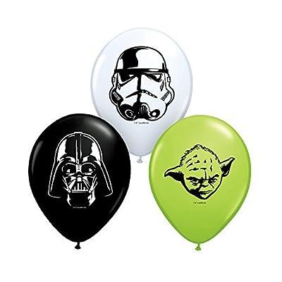 Qualatex Star Wars Faces Assortment Biodegradable Latex Balloons, 5-Inch (25-Units)
