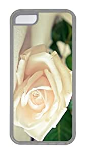 uncommon covers white rose hd TPU Transparent Case for iphone 5C