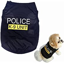Howstar Pet Shirts Dog Police Printed Cool Summer Custom Vest Cute Puppy Apparels Clothes