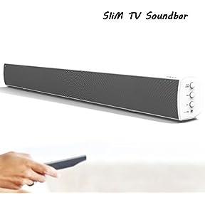 Soundbar Speaker, Soundbar Home Audio System Slim Mini Soundbar (white)
