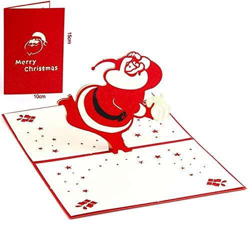 Merry Christmas Tree 3D Pop Up Greeting Card Laser Cut Envelope Postcard Vintage Customized Handmade Kirigami Gift New -