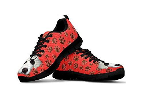 Sneakers Alice By Customized Print Casual Women's Dog Peek Designed Black ppTqIZR