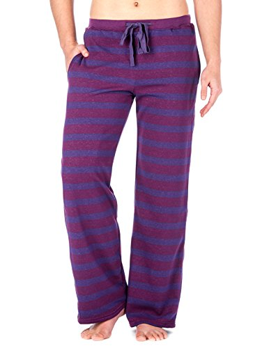 Noble Mount Womens Towel Brushed Sweatpants - Grape-Purple - Large