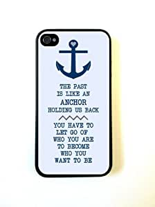 Anchor Nautical Quote iPhone 4 Case Fits iPhone 4 & iPhone 4S