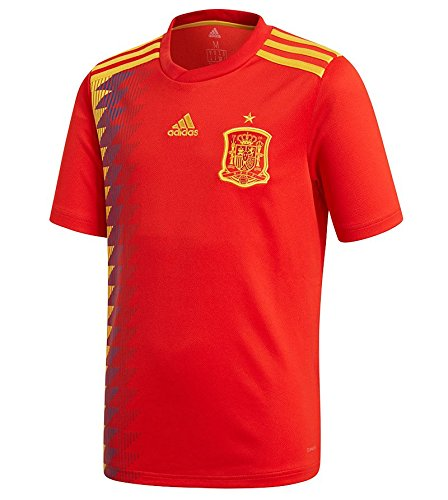adidas Spain FC 2017/18 Home Short Sleeve Jersey - Youth - Red/Gold - Age (Adidas Spain Soccer Jersey)