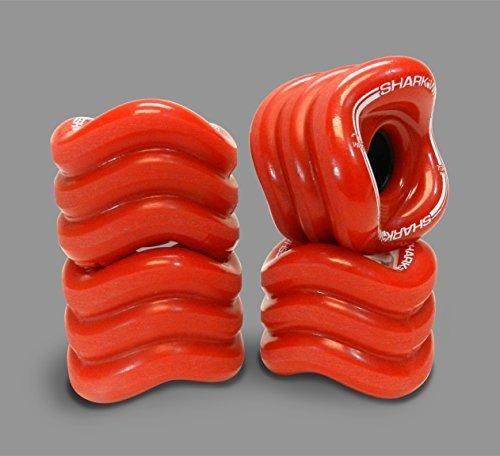 Shark Wheel Longboard Wheels 70mm, 78a - Red