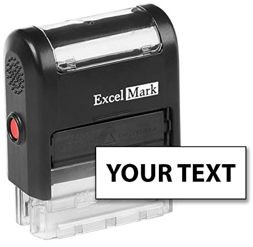 - ExcelMark Custom Self Inking Rubber Stamp - Home or Office (A1539-1 Line with Bold Font)