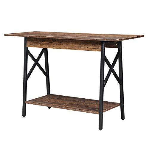 GreenForest Console Table, Large Size Industry Stylish Sofa Table with Extra Shelf Storage, Walnut