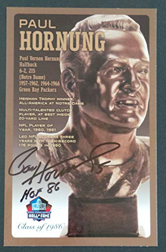 PRO FOOTBALL HALL OF FAME Paul Hornung Signed Bronze Bust Set Autographed Card NFL (Limited Edition #31 of 150)