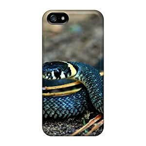 ConnieJCole Design High Quality Curious Snake Cover Case With Excellent Style For Iphone 5/5s