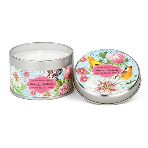 - Michel Design Works Soy Wax Candle in Travel Tin Size, Garden Melody