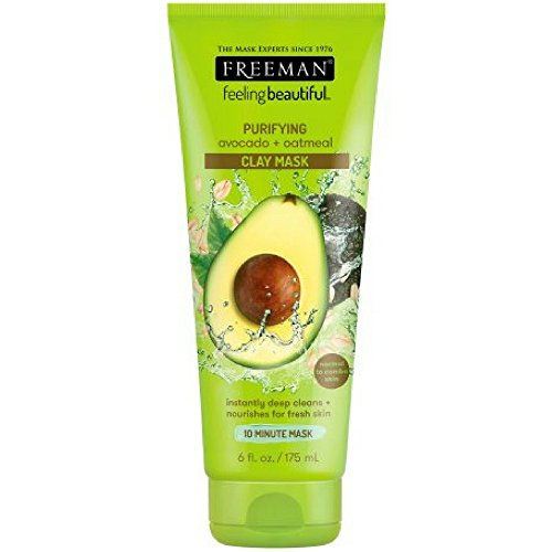 Price comparison product image Freeman Feeling Beautiful Facial Clay Masque Avocado & Oatmeal 6 oz ( Pack of 2)