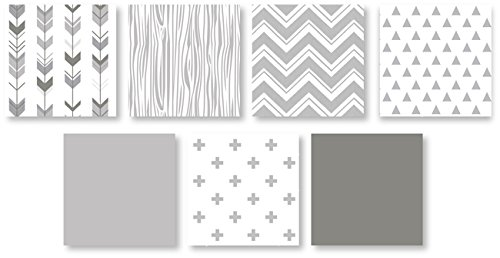 Grey and White Woodsy Deer Boy, Girl, Unisex Baby Crib Bedding Set without Bumper by Sweet Jojo Designs - 4 pieces by Sweet Jojo Designs (Image #2)
