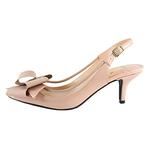 J.renee Mujeres Garbi Dress Pump Nude / Nude Faux Crinkle Patent