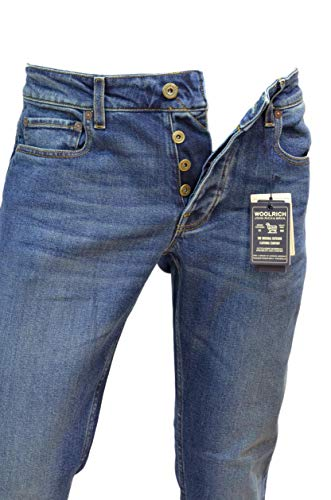 Woolrich Foto Vedi Uomo Wopan1193 Slim Straight Jeans xwYHfx